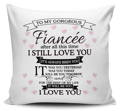 To My Gorgeous FIANCEE Novelty Cushion Cover