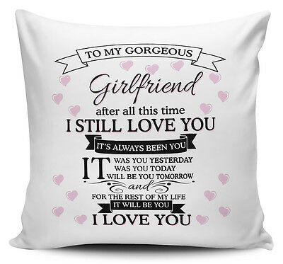 To My Gorgeous GIRLFRIEND Novelty Cushion Cover