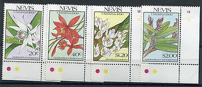Nevis 1990 Natale orchidee I°serie 544-47  mnh