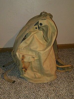 Vintage WW2 Italian military backpack with removable metal frame LIQUIDATION
