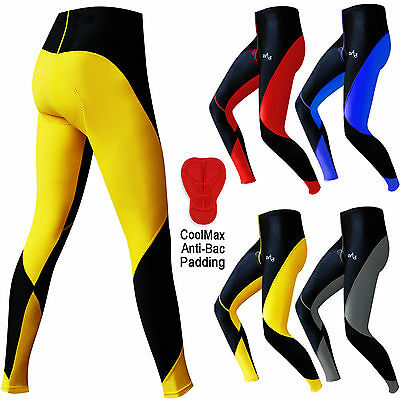 Hommes Cyclisme Collants Pantalon Shorts Leggings ANTI-BACTÉRIEN rembourré