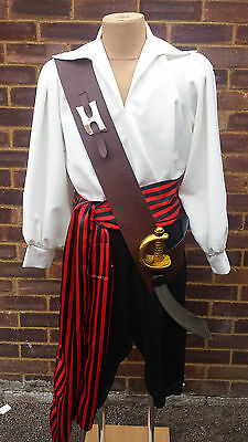 Pirate Brown Leather Look Sword Belt