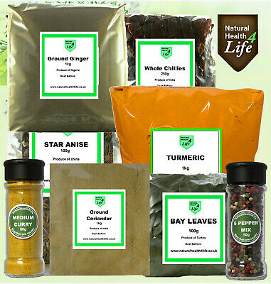 Coriander,Ginger,Cumin,Turmeric,Cloves,Bay,Chillies,Garam,Star Anise,Curry Mixes