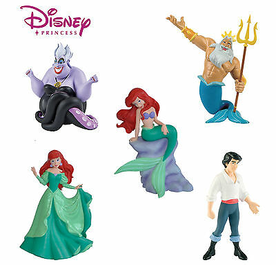 BULLYLAND DISNEY LITTLE MERMAID FIGURES - Set of 5 - Great for Cake Decorations