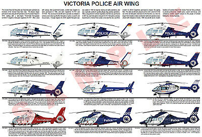 Victoria Police Air Wing helicopter poster Eurocopter Dauphin SA365 AS365