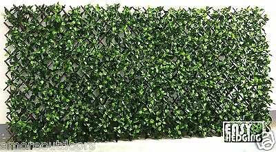 Artificial Garden Hedge Trellis Expanding Fence Cover Walling Privacy Screening