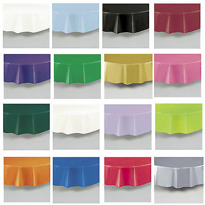 Plastic Tablecovers Table Cloth Cloths Round Circle 20 Colours