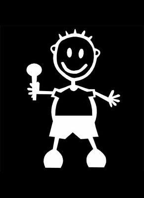 MY STICK FIGURE FAMILY Car Window Bumper Vinyl Decal Stickers BB2 BABY BOY