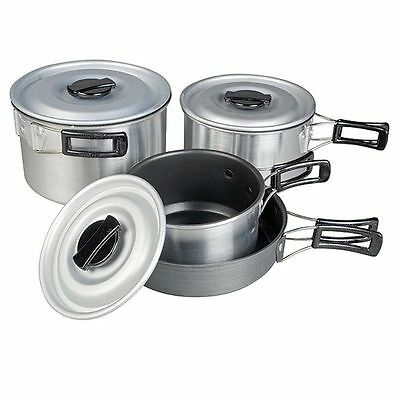 Kampa MUNCH Lightweight Non-Stick Camping Cook Stacking Saucepan Set