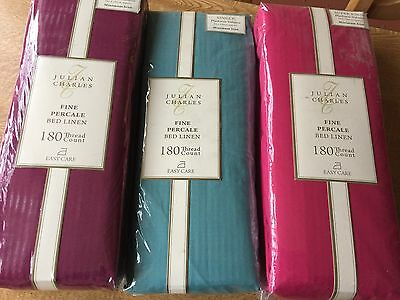 Julian Charles Percale Luxury 180 Thread Count Platform Valances