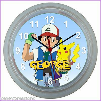 Personalised POKEMON WALL CLOCK