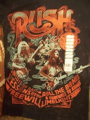 Rush Rock & Roll Hall Of Fame Official Inductee T-Shirt Mineral Wash Charcoal NR
