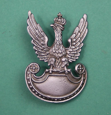 OFFICER WHITE EAGLE BADGE of Polish Army wz.19 -  SEPTEMBER WAR1939 POLAND WWII