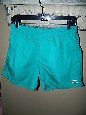 Vintage Men's Athletic Works Swim Trunks Shorty Shorts Lined Sz Mens S