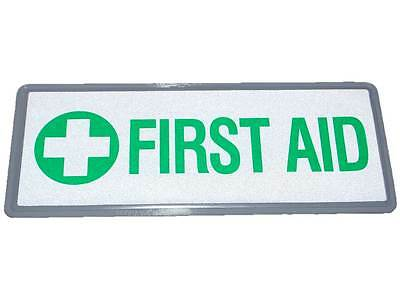 Small FIRST AID Reflective Badge for Medics First Aiders St John Red Cross Scout