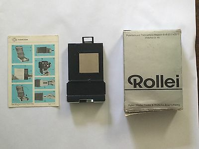 Polaroid-Land Packcamera-Magazie 6x6 back for a Rollie SL 66