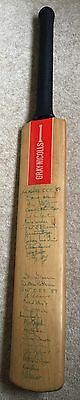 Hand Signed Lancashire Kent CCC cricket Bat 1989 Teams Fully Authentic Original