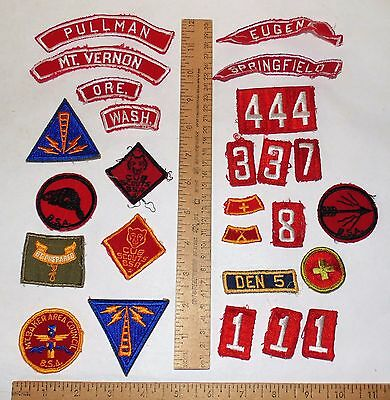 Various BOY SCOUTS OF AMERICA - PATCHES / NUMBERS / LOCATION - listing number 2