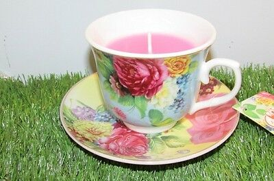 Teacup with Candle Assorted Colours