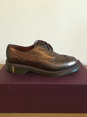 Dr. Martens Evelyn Bronze Anilmorbido  Leather  Shoes Size Uk 9