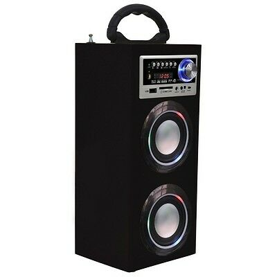 Majestic ts78 bt torre cassa audio bluetooth con radio fm con usb sd aux  NERO
