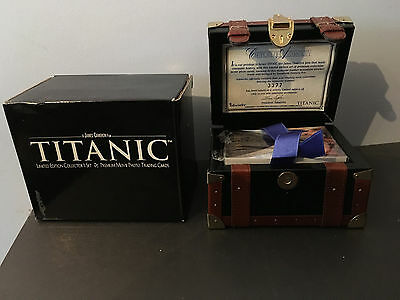 Titanic Inkworks Limited Edition Set of Trading Cards housed in Steamer Trunk