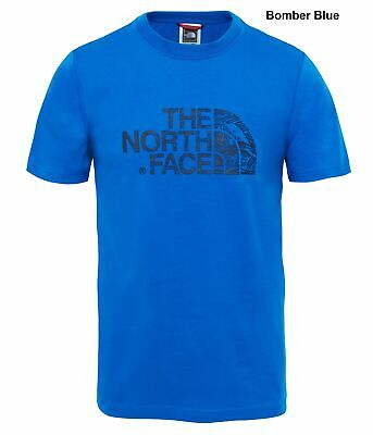The North Face Mens Woodcut Dome Tee - Cotton T-Shirt - Crew Neck