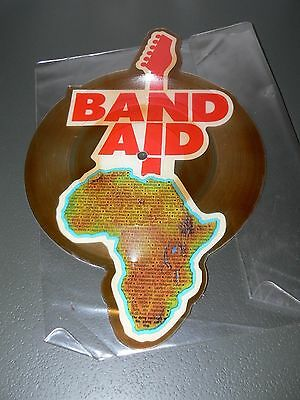 Vintage 1985 Band Aid Shaped Vinyl - Do They Know Its Christmas - Record Single