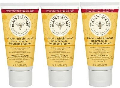 Burt's Bees Baby Bee Diaper Rash Ointment -3 Ounce each Lot of 3