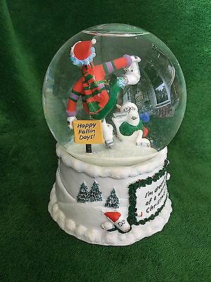 """Maxine """"I'm Dreaming of a Whiney Christmas!"""" Snowglobe Music Box Hallmark"""
