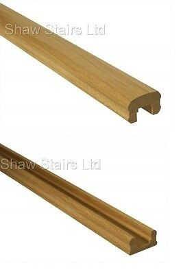 Contemporary Solution Stair Handrails, Oak, Pine 32mm Groove