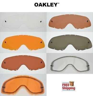 Oakley® Brand Crowbar® Mx Goggle Replacement Lens Tinted Dark Light Mirror Color