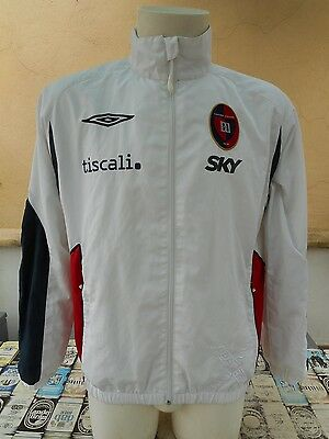 Felpa Calcio Cagliari 2007/08 Umbro M Jacket Top Tracksuit Veste Sweat Jacke