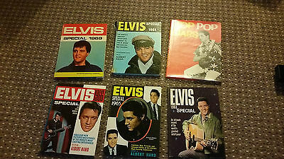 ELVIS PRESLEY COLLECTION OF VINTAGE ANNUALS BOOKS SPECIALS 1960s superb rare