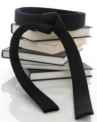 "2"" Solid Black Master Belts for Karate Double Wrap Sizing with 11-Stitching Rows"
