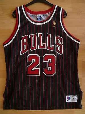 NBA Chicago Bulls Michael Jordan Authentic Alternate Pinstripe Jersey Trikot