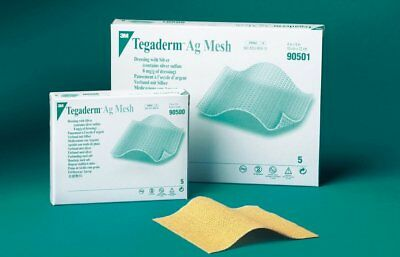 """Mesh Dressing Tegaderm Ag Silver Sulfate 2 X 2"""" #90500"""