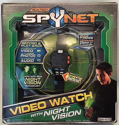 SPY NET Video Watch 2.0 with Night Vision Records Photos Audio Full Color NEW