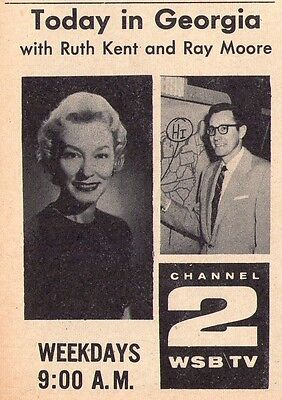 1960 TV AD~RUTH KENT & WEATHER with RAY MOORE on TODAY IN GEORGIA~ATLANTA