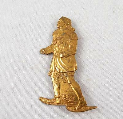 1935 Lewiston Maine Snowshoes Snowshoeing Club Pin