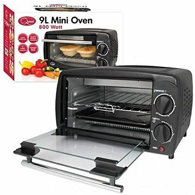 New Mini Oven Grill 9L Electric 800W Cooker Table Top Toast Portable Compact