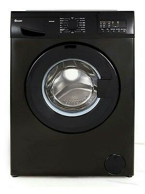 Swan Sw2080B Black 8Kg 1400 Spin Washing Machine - Black