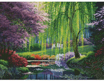 "The Willow Pond Tapestry / Needlepoint Kit 16"" x 12"" By Candamar 30951 NEW"