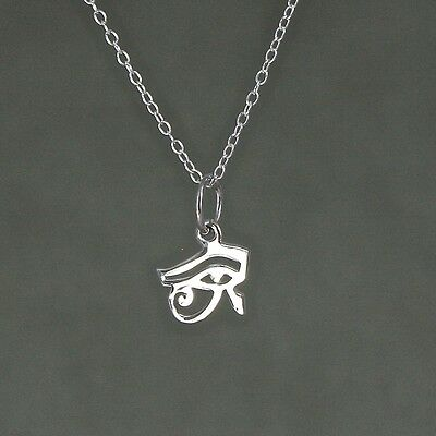 Eye of Horus Charm Necklace ~ 925 Sterling Silver Religious Faith Jewellery NEW