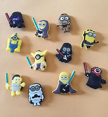Minion Star Wars Style Shoe Charms Set Of 11-  US Seller