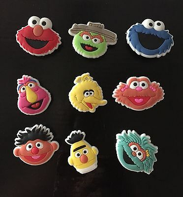 Sesame Street Like Shoe Jibbitz/Shoe Charms Set Of 9...US Seller