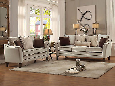 MORAGA-Modern Gray Velvet Sofa Couch Set Living Room Furniture-Clearance Special
