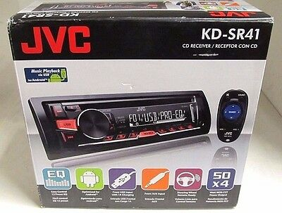 JVC KD-SR41 Car Audio CD Receiver Front USB Front Aux W/ Remote NEW IN BOX