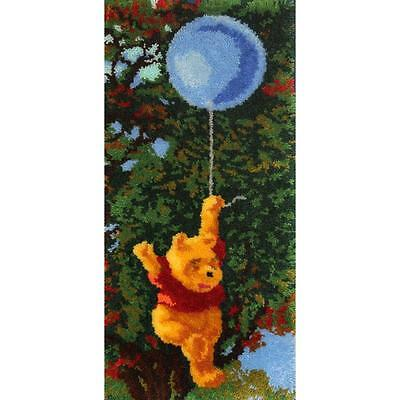 "Pooh Bear with Balloon Latch Hook Rug Kit 17"" x 35"" By MCG Textiles 52766 NEW"