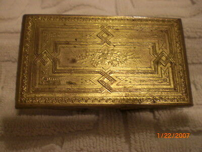 antique rare h milward and sons victoria brass needle case 1872